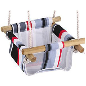 Canvas and Wood Baby Toddler Safety Swing for Indoor/Outdoor