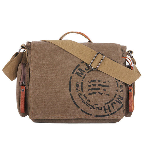 Canvas Logo Messenger Bags Shoulder Bag Crossbody Carry-On
