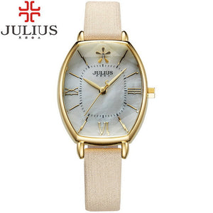 Julius Brand Rose Gold Dress Watch Thin Leather Quartz Movement