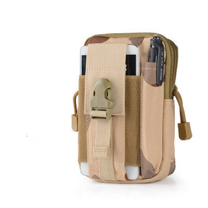 Canvas Waist Pack Hip Bag Phone Case Mini Military Bag