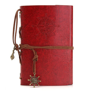 Vintage Retro Leather Cover Notebooks Personal Diary Journals