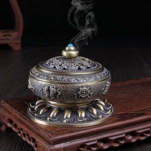 Metal Incense Burner From Nepal Sandalwood Metal Crafts