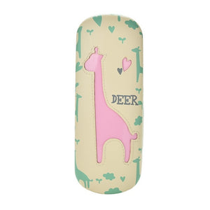 Giraffe Design Sunglasses Hard Leather Case Cute Sunglasses Box