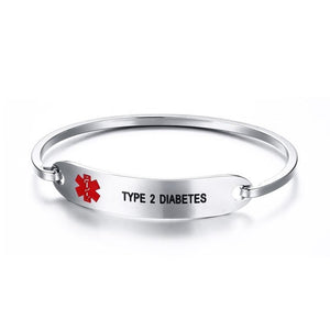 Medical Alert Identification Bracelet Stainless Steel Epilepsy Diabetic Coumadin
