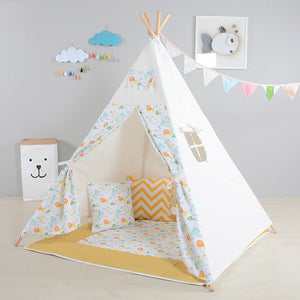 Kids Play Tent Cute Lion Pattern Playhouses For Children