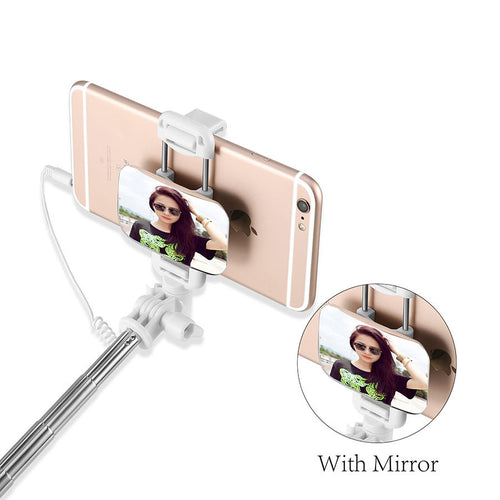 Fashion Selfie Stick For iphone Samsung IOS Android - Universal Portable Folded Wired