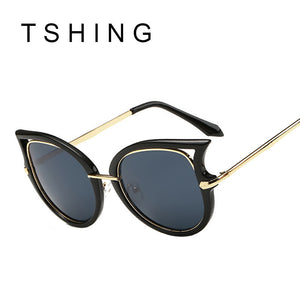 Classic Vintage Women Cat Eye Frame Square Lens