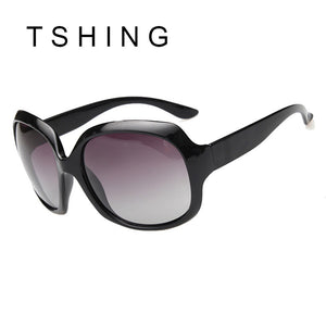 TSHING Ladies Luxury Brand Designer Oversized Polarized Sunglasses