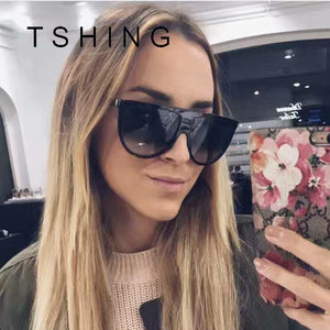 TSHING 2017 New Fashion Flat Top Goggle Sunglasses Vintage