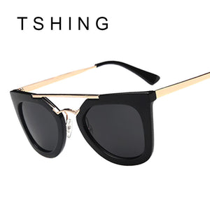 TSHING Superstar Vintage Flat Top Sunglasses Classic Metal Temple