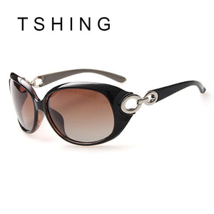 TSHING Luxury Brand Designer Women Polarized Sunglasses Oversized Gradient Glasses