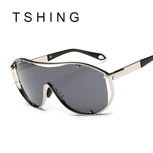 TSHING Steampunk Shield Oversize Sunglasses
