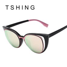 TSHING Brand Designer Cat Eye Layered Sunglasses