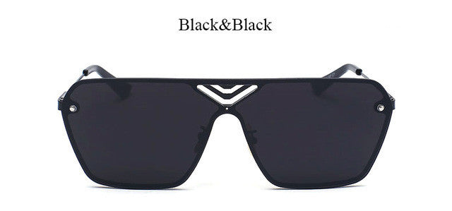 Fashion Rimless Square Sunglasses Italian Designer Luxury
