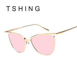 Women Cat Eye Sunglasses Classic Clear Shades Vogue