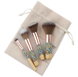 Traveling Makeup Brush 4 Piece Fantasy Makeup Brushes