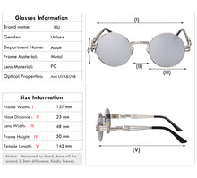 Luxury Metal Sunglasses Steampunk Retro UV Protection