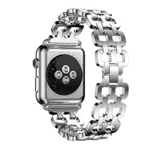 Stainless Steel Link Style Apple Watch Replacement Band for iPhone Watch 38 and 42
