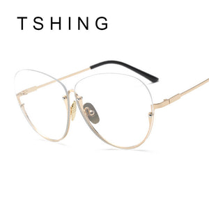 Unisex HUGE Frame Fashion Oversized Rimless Optical Eyeglasses