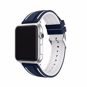 CRESTED Silicone Sport Replacement Band for Apple Watch for 38mm or 42mm