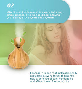 Easehold Aroma Essential Oil Diffuser Humidifier 400ml Cool Mist