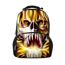 Skull Print Backpack Cool 3D Wild Animals 30 Designs to Pick From Travel Bag