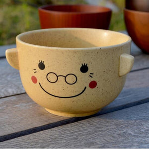 Creative Cartoon Ceramic Bowl with Wood Bowl 'Hat'