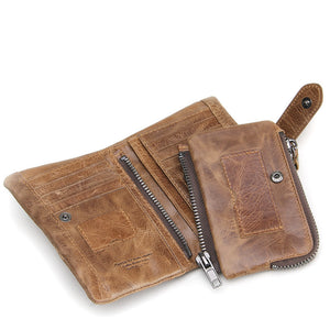 Cross OX Genuine Rugged Leather French Style Purse Clutch Wallet