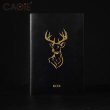 Masculine Black with Gold Embossed Wildlife Lion Deer Horse Notebook Travel Journal Sketchbook