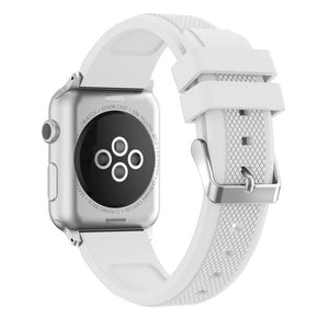 Apple Watch Sport Band, Soft Silicone Replacement Stainless Steel Pin