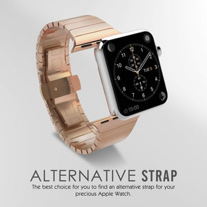 CRESTED Luxury Stainless Steel Replacement Band For Apple Watch Classic Watch Band