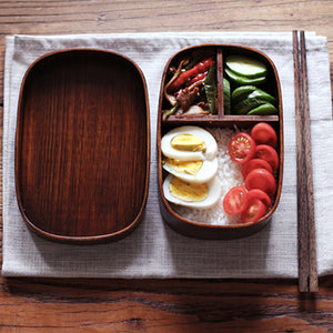 Japanese Bento Box Rectangle Wood Lunch Box Handmade