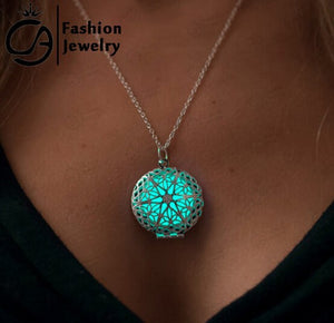 Glow in the Dark Heart of the Sea Steampunk Pendant