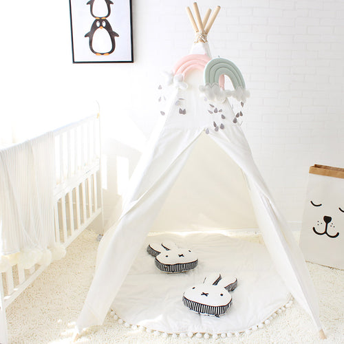 Play Tent For Kids White, Pink or Blue Canvas