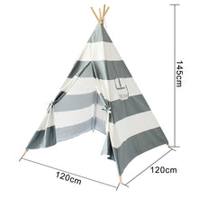 Play Tent For Kids Canvas Cotton Striped Pattern