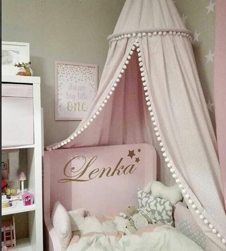 Princess Hanging Tent Kids Bedding Round Dome with Ball Decoration