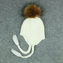 Toddler Knit Cotton Baby Hat With Pompom