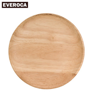 Beech Wood Plates Kitchen Tableware