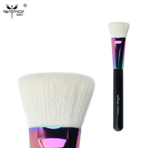 Anmor Goat Hair Flat Top Face Brush Powder/Blush Makeup