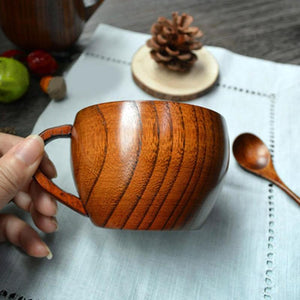 Wooden Retro Restaurant Tea Cup Pot-bellied Coffee Cup