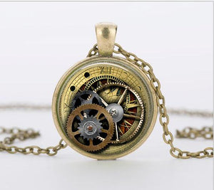 Punk Industrial Gears Steampunk Short Necklace Jewelry