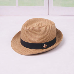 ... Adult Breathable Panama Style Straw Hat Folding Bucket Hat ... 688da257396f