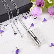 Pet Remembrance Cremation Urn Pendant Stainless Steel Memory Keepsake Charm