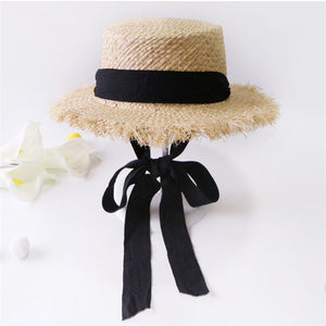 Handmade Raffia Straw Panama Sun Visor Hats For Women and Girls