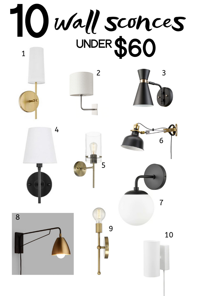 10 Wall Sconces Under $60
