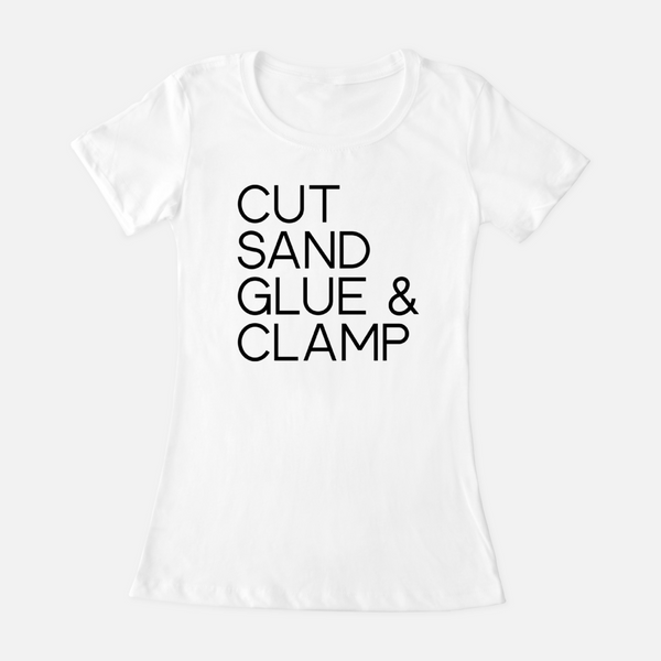 Cut Sand Glue Clamp - Women's Tee