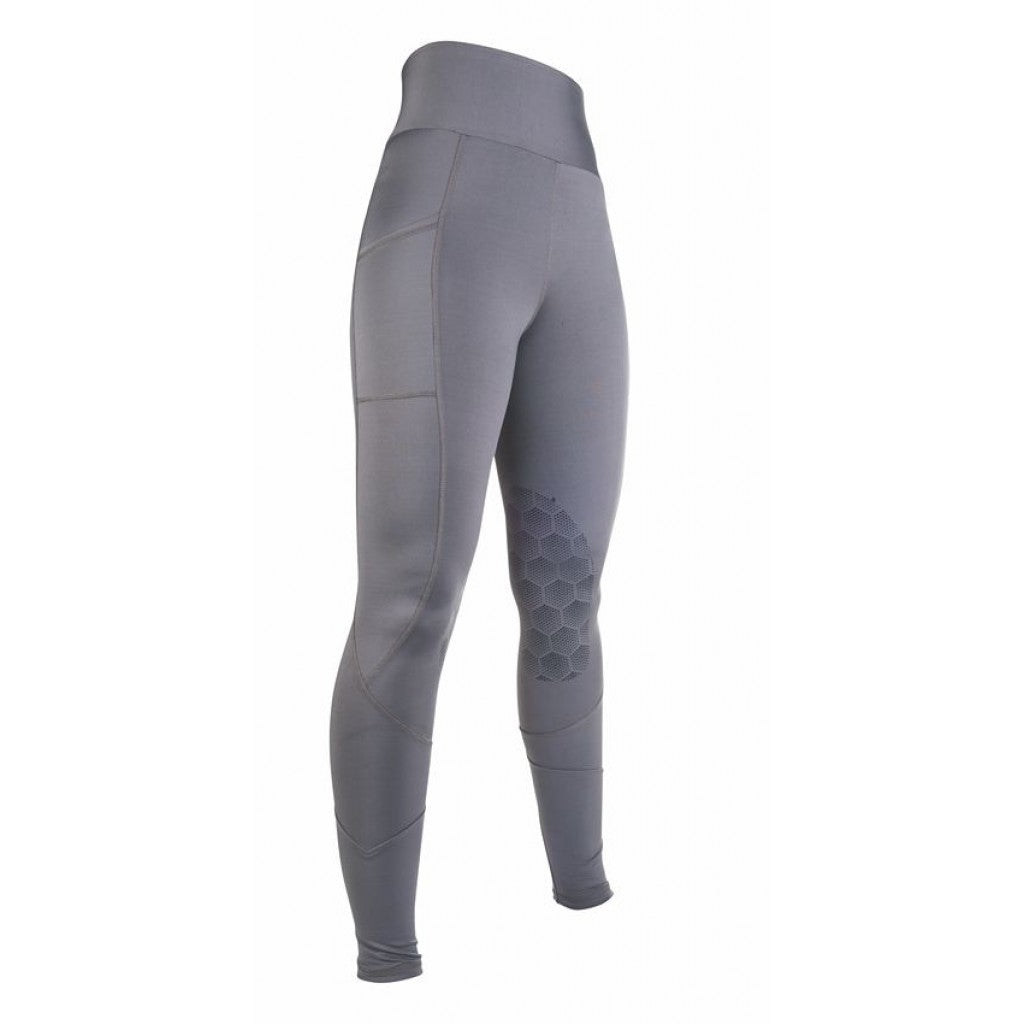 Riding leggings -Highwaist- Style sil. knee patch