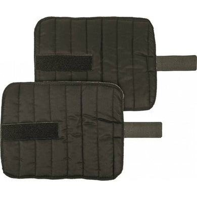 Bandage pad with touch-close straps
