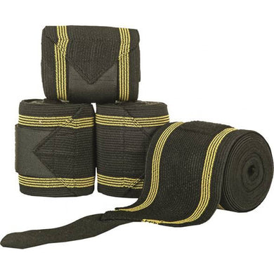 Combination bandage with elasticated fleece