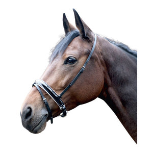 Swedish noseband -Stockholm- patent leather